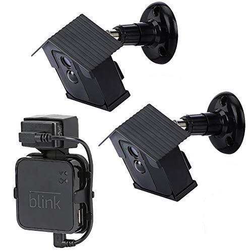 Indoor Housing - HOLACA Protective Weatherproof Housing +Security Bracket,with 360 Degree Swivel Adjustable Indoor Outdoor Use for Blink XT Camera Security System, Bracket Kit.