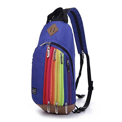 Muchengbao duffel bag style woman pack recreational man bag student pack (black) (Dark blue) from Muchengbao