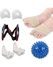 Bunion Corrector, Toe Separators Bunion Protector Sleeves Kit for Big Toe Straightener Relief, Foot Massage Ball for Tailors Hallux Valgus, Overlapping Toes, Big Toe Joint