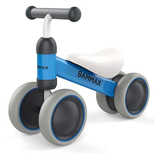 Bammax Baby Balance Bikes Bicycle Children Walker Toddler Bike for 1 Year Old No Pedal Infant 4 Wheels First Birthday Gift Bike