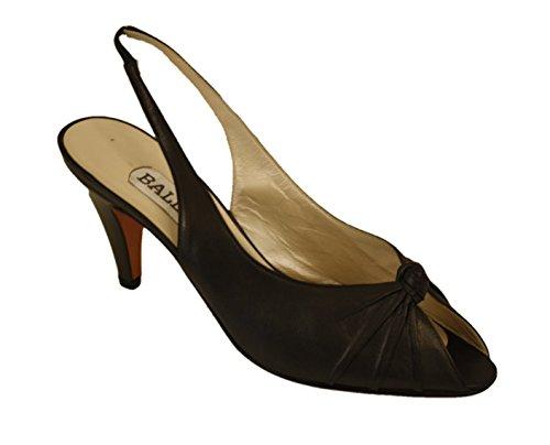 bally-classic-peep-toe-sandal-leather-pump-sling-back-black-womens-8-m