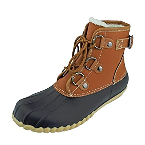 a0a7f9d494d lovely Outwoods Women's Autumn-3 Two-Tone Lace-Up Duck Boot Rain ...