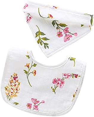 Kcpolre 2 PCS Baby Bibs Infant Burp Cloths Baby Saliva Towel Round Bib for Toddler