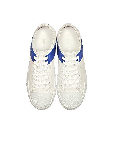 Neil Barrett Uomo Sneakers In Pelle Bianca Pbct231g9000329