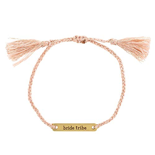 SB Design Studio F2794 Wedding Collection Love Notes Pink Thread Bracelet, Bride Tribe