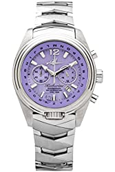 The Abingdon Co Katherine Aviation Watch with Royale Purple Face and ALPHABezel