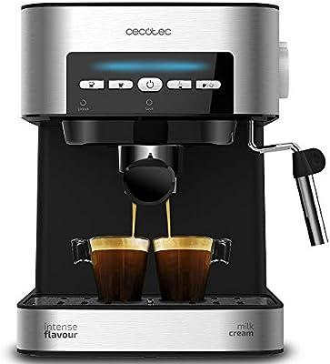 Cecotec Cafetera Express Digital Power Espresso Matic para Espresso y Cappuccino, de 20 Bares, 850 W y Vaporizador Orientable.: Amazon.es: Hogar