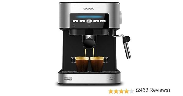 Cecotec Power Espresso 20 Cafetera, Presión 20 Bares, 1,5L, Brazo ...