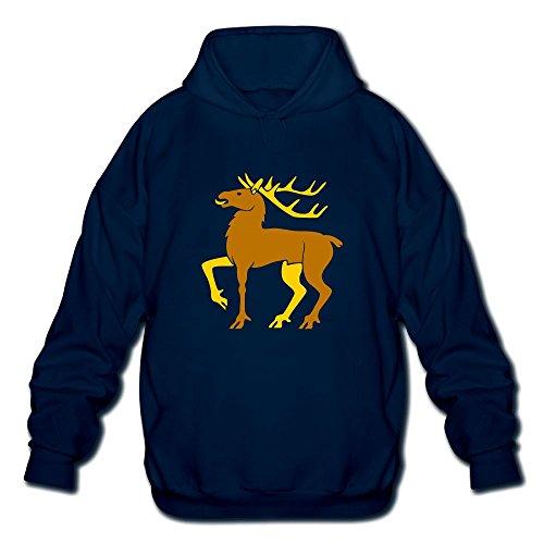 Gzhouqube Men's Christmas Elk Tops Casual Hat Without Pocket Hoodies Sweatshirt Tops Blouse XXL Navy