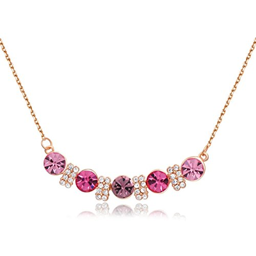 Fashion Jewelry Austrian Crystal Pendant Necklace For Women Party Wedding