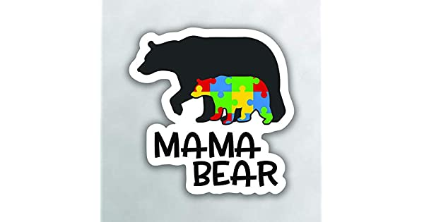 More Shiz Autism Mama Bear Vinyl Decal Sticker One 5 Inch Decal Car Truck Van SUV Window Wall Cup Laptop MKS0999