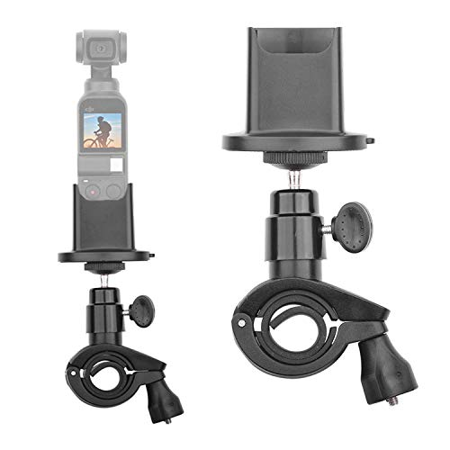 - Bicycle Handlebar Mount Holder Compatible with DJI Osmo Pocket Camera Motorcycle Bike Accessories Bracket 360° Rotatable Ball Head with Gimbal Stabilizer Base Stand Adapter