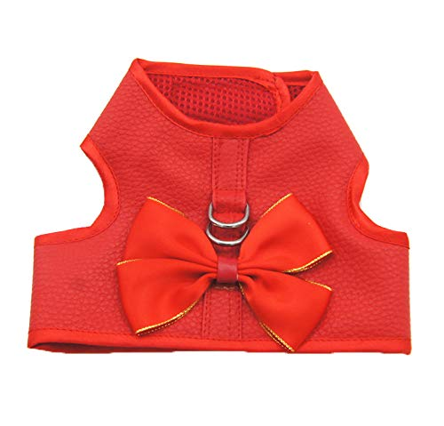 Vest M Vest M Lbx Pet Leather Vest Dress red Leather Material A Variety of Styles Multiple Sizes Durable Easy to Clean Pet Fashion Breathable Leather Vest