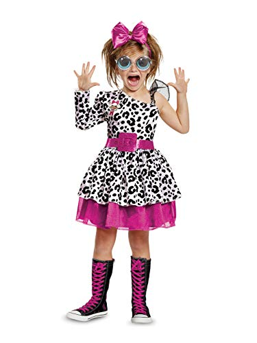 Disguise Diva Deluxe Child Costume, White, Medium/(7-8)
