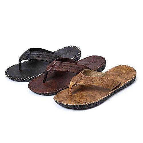 Slduv7 Nuevos Chanclas Para Hombres Sandalias De Playa Antideslizantes Ocasionales Niños Zapatillas De Tobillos Suaves Para Interiores Al Aire Libre Marrón