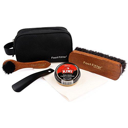 Price comparison product image FootFitter Kiwi Shoe Polish Travel Set - Shoe Care Kit for Men!