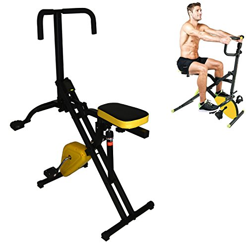 Total Crunch 2 in 1 Horse Rider with Hydraulic Resistance and Stationary Exercise Pedal Bike by Total Crunch