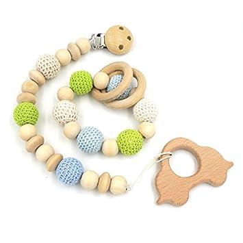 Amazon.com: Juego de verde pálido azul juguete de bebé ...