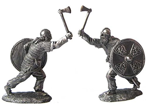 Military-historical miniatures Viking 9-10 Centuries Tin Metal 54mm Action Figures Toy Soldiers Size 1/32 Scale for Home Décor Accents Collectible Figurines Item #P65