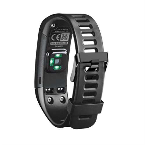 Lookatool New Replacement Soft Silicone Bracelet Strap WristBand For Garmin Vivosmart HR (black)