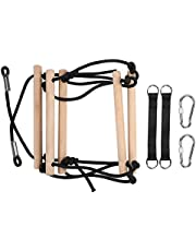 Rope Ladder, Environmentally Friendly Enhance Physical Healthy Wooden Rope Ladder Strong and Sturdy for Kids for Tree House
