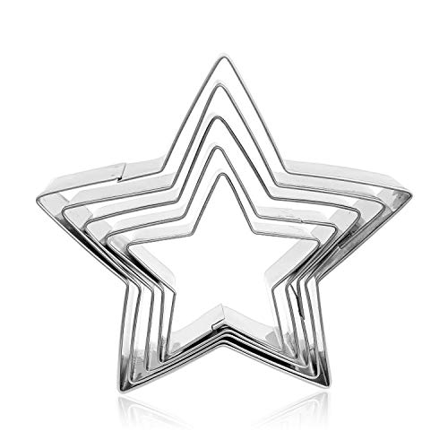 XYBAGS Star Cookie Cutter Set, 5 Piece - 3 2/5