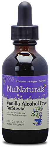 NuNaturals Nustevia Alcohol Free Liquid Vanilla Stevia - Stevia Sweetener with Vanilla Extract, 2-Ounce
