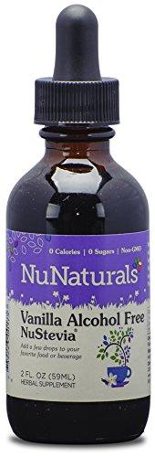 NuNaturals Nustevia Alcohol Free Liquid Vanilla Stevia - Stevia Sweetener with Vanilla Extract, 2-Ounce