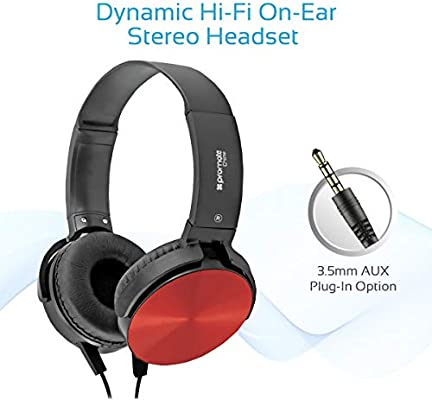 Promate Over-Ear Headphones, Portable Noise Cancelling Adjustable
