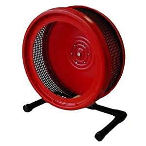 Pet Exercise Wheel, Pet Wheel for Sugar Gliders, Rats--Stealth Wheel; Red with Stand by Atticworx