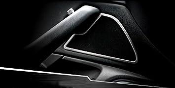para A6 C7 2012-2017 Altavoz de la puerta Interior Frontal de Acero Inoxidable Accesorio