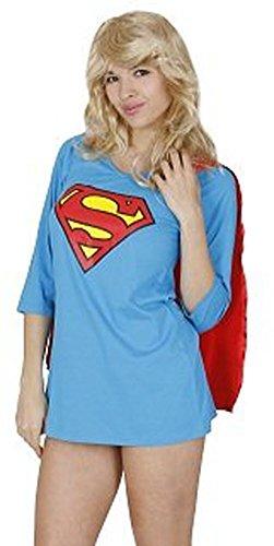 DC Comics Superman veille pour juniors Bleu Nuit Peignoir Pyjama Robe avec cape