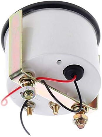 LOVFASHION Black Bezel Gas Fuel Level Gauge Analogue Red LED Car Marine Boat 52mm 12V