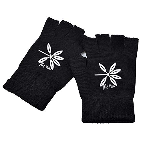 Youyouchard Kpop BTS EXO Seventeen Wanna ONE Gloves with Five Fingers and Half Finger Knit Gloves Fingerless Gloves Warm and Fashion(EXO)