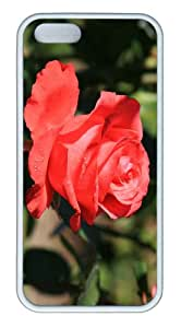 iPhone 5S Customized Unique Landscape Flowers Beautiful Red Rose 4 New Fashion TPU White iPhone 5/5S Cases