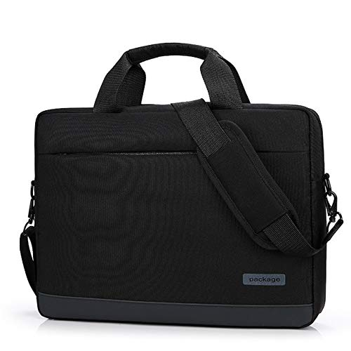 Premium Nylon Laptop Messenger Bag Shoulder Strap Case for Dell G7 15 / Dell G3 G5 15 / Dell XPS 15 / Dell Inspiron 15 7000 2-in-1 / Dell Precision 3530 / Microsoft Surface Book 2 15 in (Black)