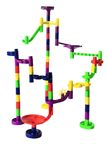 Mr. Marble Run Starter Set (48 Large Marble Run Pieces + 10 Glass Marbles) by Mr. Marble Run (Image #5)