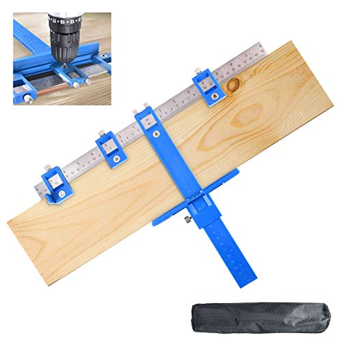 Suteck Cabinet Hardware Jig Adjustable Punch Locator Drill Guide Template Tool Woodworking Hole Drilling Dowelling for…