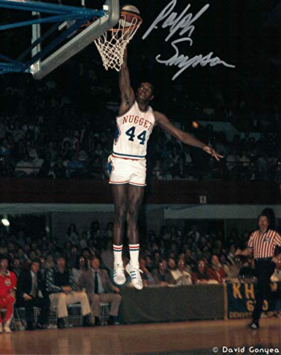 Ralph Simpson Autographed Signed Denver Nuggets ABA 8x10 Photo Dunk - Certified Authentic ()