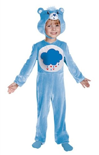 Disguise Care Bears Grumpy Bear Classic Costume, Light Blue/White, 12-18 -