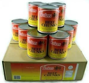Yoders Canned Beef Chunks- Full Case