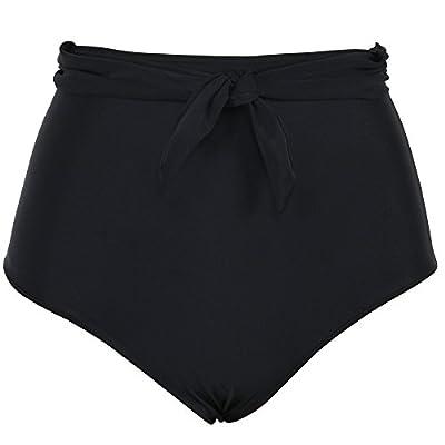 Firpearl Women's High Waist Bikini Bottom Sailor Tie Swimsuit Swim Brief
