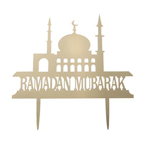 Feamos Cupcake Toppers Eid Mubarak Ramadan Cake Decor For Muslim Party Wedding Birthday Supplies Baby Shower DIY Acrylic