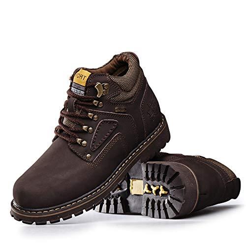 Hombres Zapatos Trabajo de Superior Suela Tobillo Jusheng Botas tamaño Redonda algodón Oscuro EU de Marron Color cálida clásica de Brown los Superior Opcional 46 Superior Light de Convencional 0X0Yx6