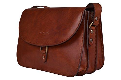 Bag for Brown body Saddle Italian Leather Handmade Firenze Cross Women Bag Chellini Pw18w