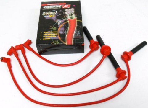 OBX Red Spark Plug Wire Set 90-01 Acura Integra 99-00 Honda Civic SI 93-97 Del Sol
