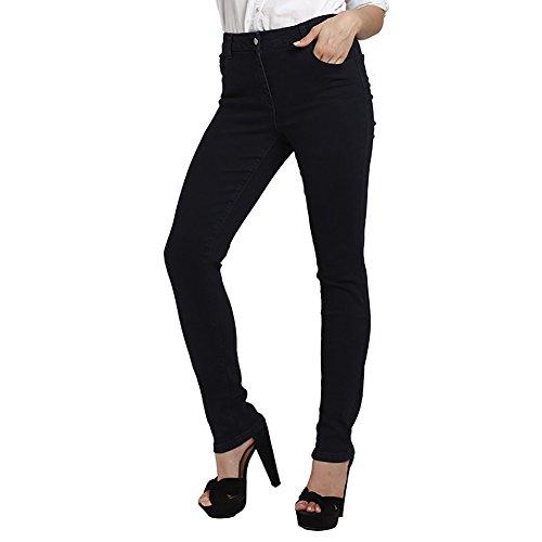 Pants Bleu AUSERO Super Stretch Haute Fonc Chic Taille Jeans Slim Skinny Femme q8pATw
