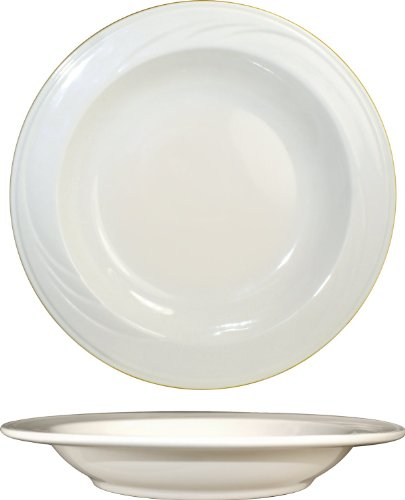 Iti dinnerware 12-Piece york 9-Inch deep rim soup american white-13-ounce off white embossed pattern vitrified stoneware rolled edge embossed pattern ...  sc 1 st  the best in dinnerware and flatware! & The 20 Best International Tableware Inc. Soup Bowls for 2018 ...