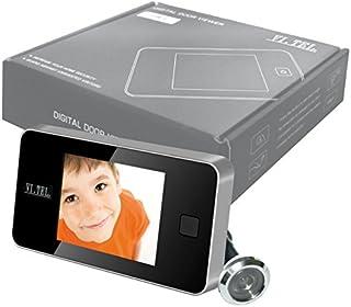 VISORE SPIONCINO TELECAMERA CROMO SATINATO DISPLAY DIGITALE PER PORTA SCHERMO LCD