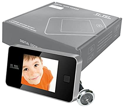 Mirilla con cámara y pantalla LCD digital para la puerta, cromado satinado